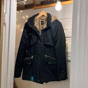 Zara Trf outer wear waterproof parka. USA Med